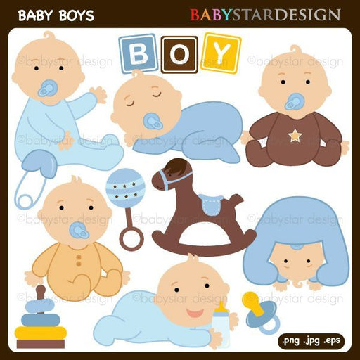 Baby Boys Clipart by Babystar Design Cliparts Babystar Design    Mygrafico