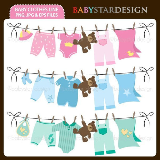 Baby Clothes Line by Babystar Design Cliparts Babystar Design    Mygrafico