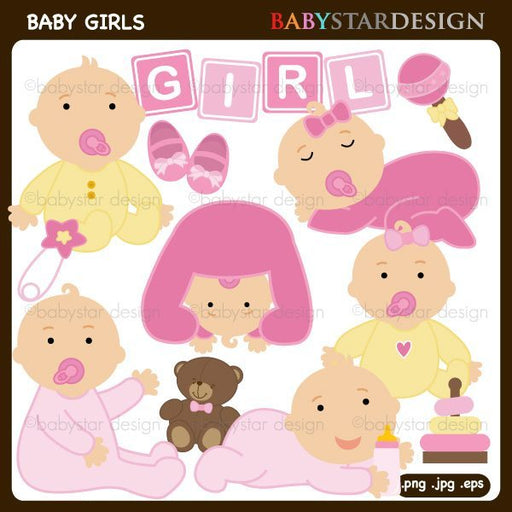 Baby Girls Clipart by Babystar Design Cliparts Babystar Design    Mygrafico
