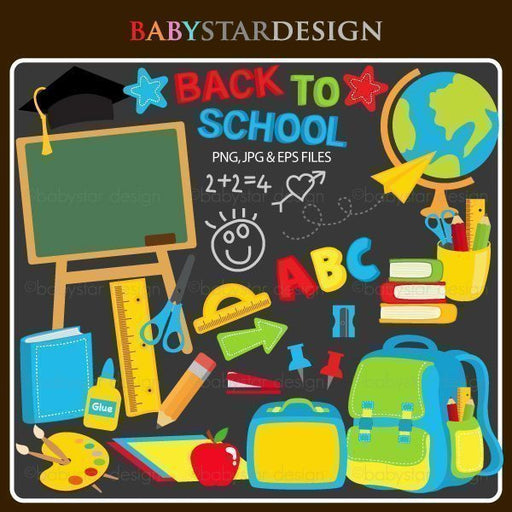 Back To School 2 by Babystar Design Cliparts Babystar Design    Mygrafico