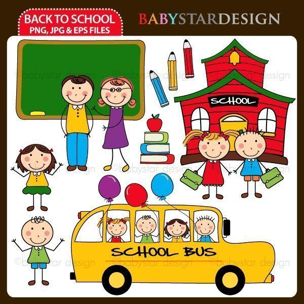 Back To School by Babystar Design Cliparts Babystar Design    Mygrafico