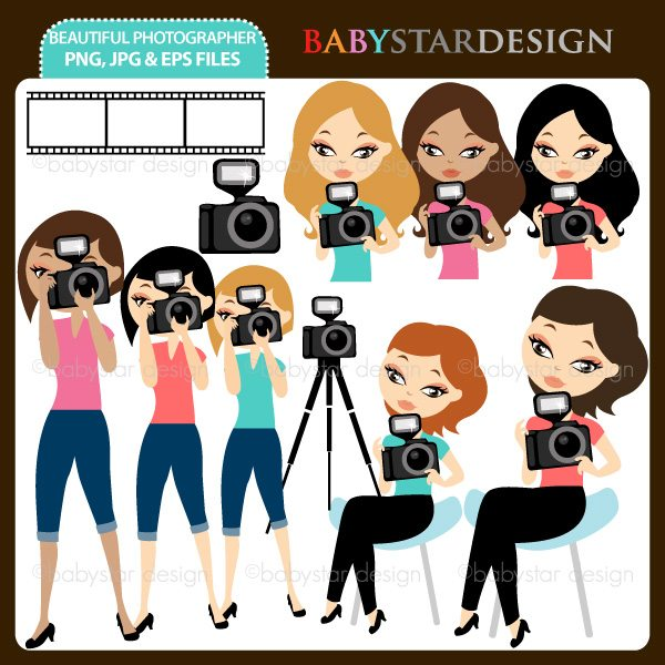 Beautiful Photographer - Clipart Set  Babystar Design    Mygrafico