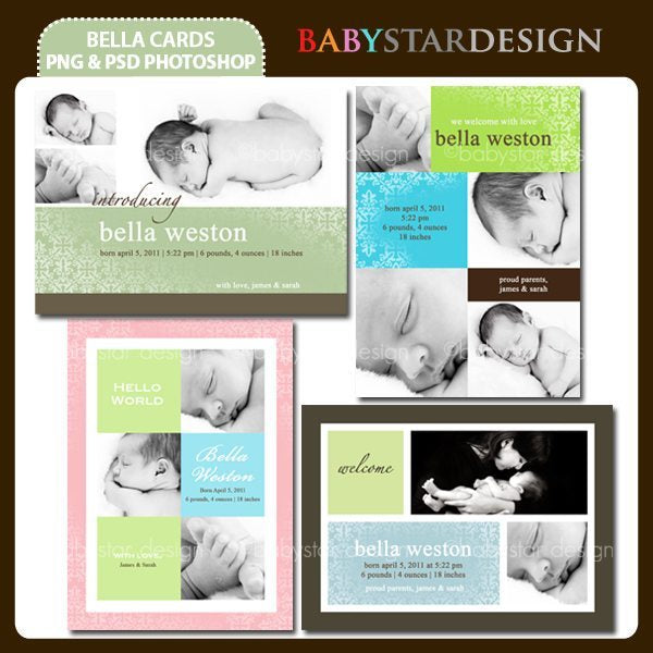 Bella Photo Cards  Babystar Design    Mygrafico