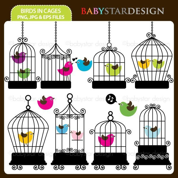 Birds In Cages  Babystar Design    Mygrafico