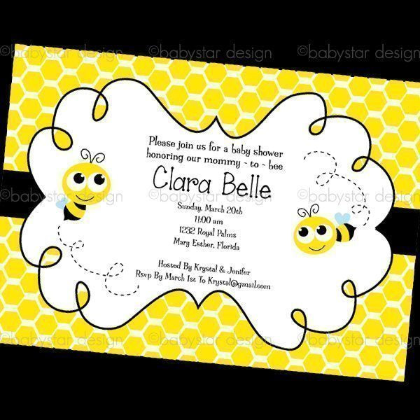 Bumble Bee - Invitation Templates  Babystar Design    Mygrafico