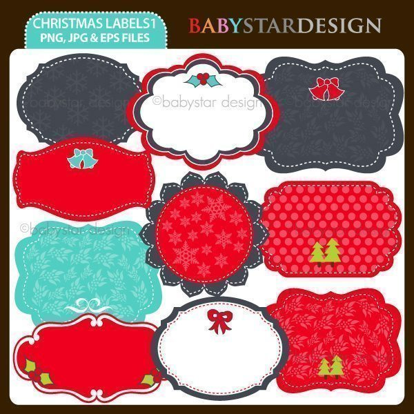 Christmas Labels 1  Babystar Design    Mygrafico
