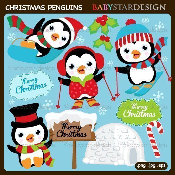 Christmas Penguins  Babystar Design    Mygrafico