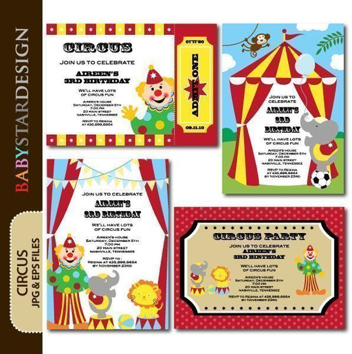 Circus - Invitation Templates  Babystar Design    Mygrafico