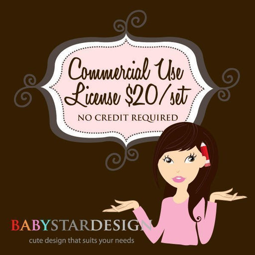 Babystar Design Commercial Use License Commercial License Babystar Design    Mygrafico