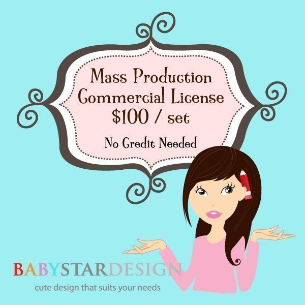 BABYSTAR DESIGN MASS PRODUCTION COMMERCIAL LICENSE  Babystar Design    Mygrafico