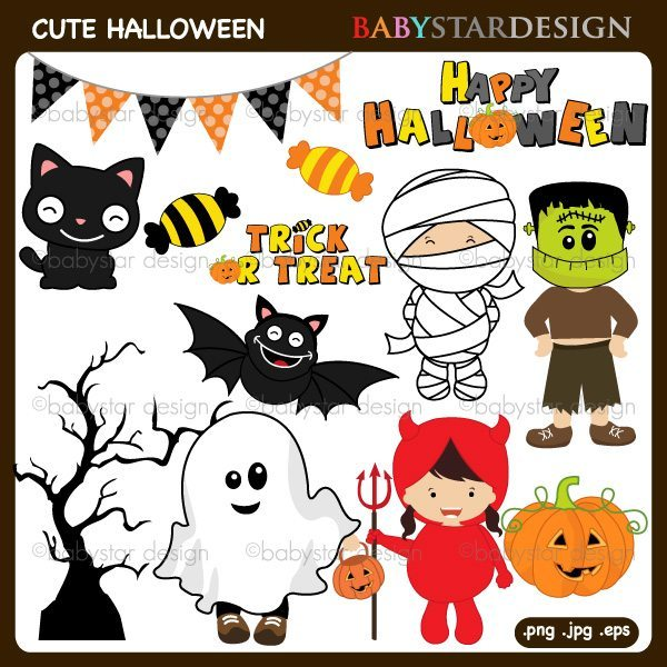 Cute Halloween Clipart  Babystar Design    Mygrafico