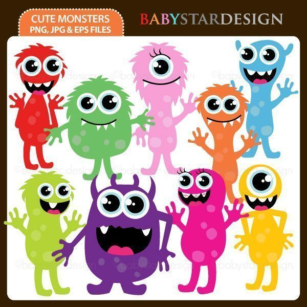 Cute Monsters  Babystar Design    Mygrafico