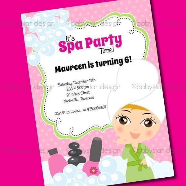 Day Spa - Invitation Templates  Babystar Design    Mygrafico