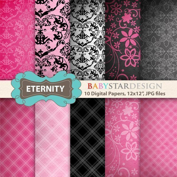 Eternity Digital Papers  Babystar Design    Mygrafico