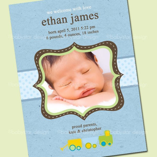 Ethan Photo Cards  Babystar Design    Mygrafico