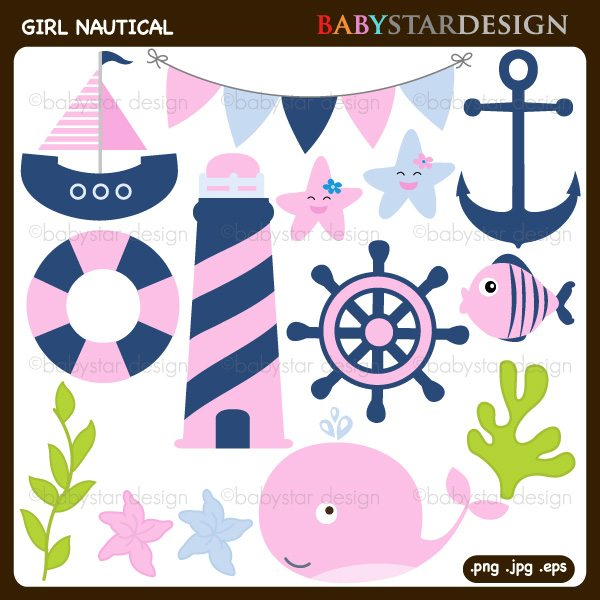 Girl Nautical Cilpart  Babystar Design    Mygrafico