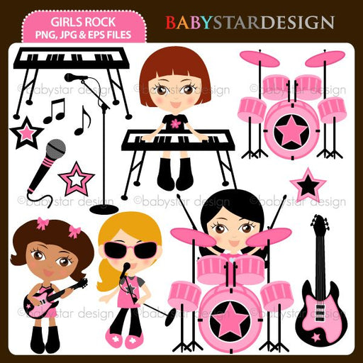 Girls Rock  Babystar Design    Mygrafico