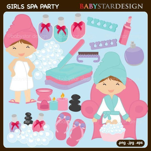 Girls Spa Party Cliparts  Babystar Design    Mygrafico