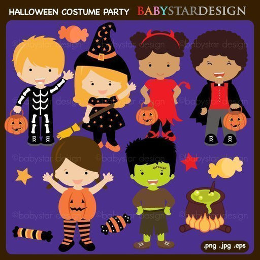 Halloween Costume Party Clipart  Babystar Design    Mygrafico