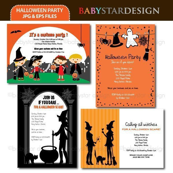 Halloween Party - Invitation Templates  Babystar Design    Mygrafico