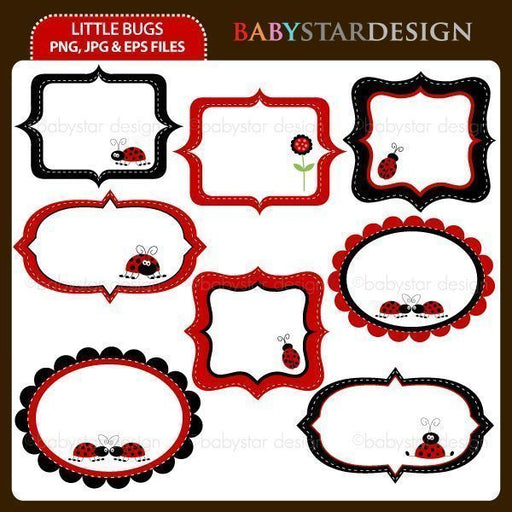 Little Bugs - Frame Set  Babystar Design    Mygrafico