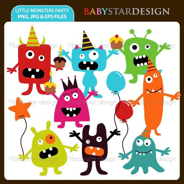 Little Monsters Party  Babystar Design    Mygrafico