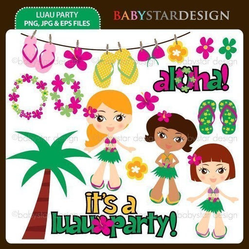 Luau Party  Babystar Design    Mygrafico