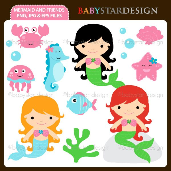 Mermaid and Friends  Babystar Design    Mygrafico