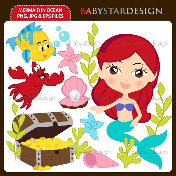 Mermaid In Ocean  Babystar Design    Mygrafico
