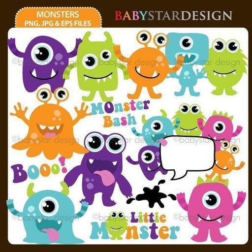 Monsters  Babystar Design    Mygrafico