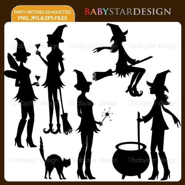 Party Witches Silhouettes  Babystar Design    Mygrafico