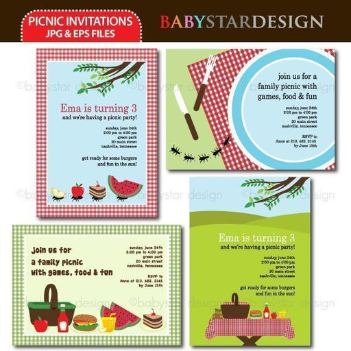 Picnic - Invitation Templates  Babystar Design    Mygrafico