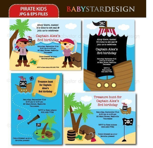 Pirate Kids - Invitation Templates  Babystar Design    Mygrafico