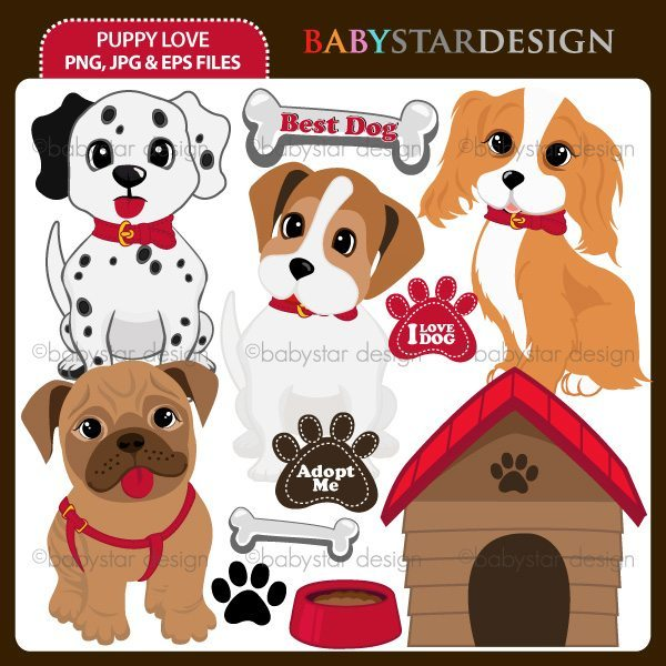Puppy Love Clipart  Babystar Design    Mygrafico