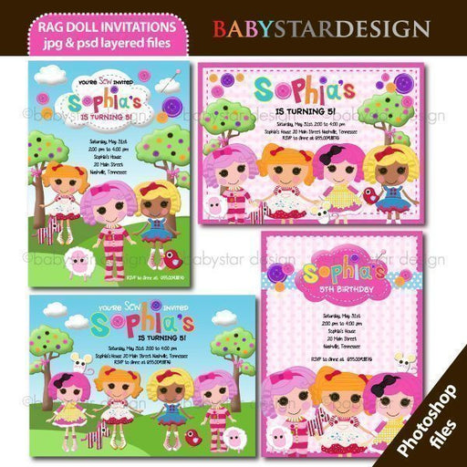 Rag Doll - Invitation Templates  Babystar Design    Mygrafico