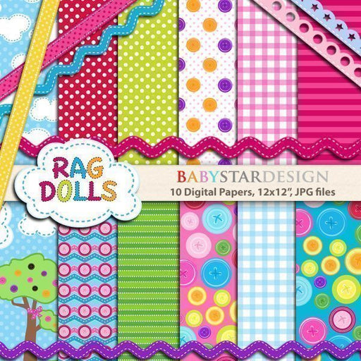Rag Dolls Papers  Babystar Design    Mygrafico