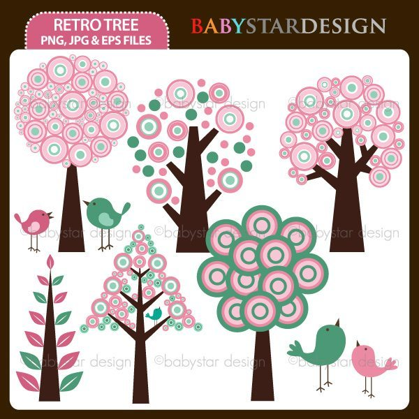 Retro Tree  Babystar Design    Mygrafico