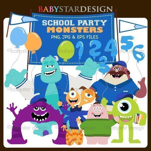 School Party Monsters  Babystar Design    Mygrafico