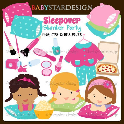 Sleepover Slumber Party  Babystar Design    Mygrafico