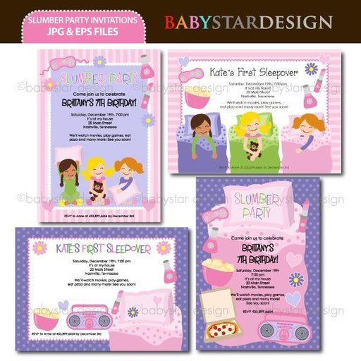 Slumber Part - Invitation Templates  Babystar Design    Mygrafico