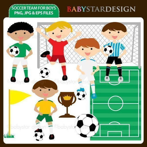 Soccer Team For Boys  Babystar Design    Mygrafico