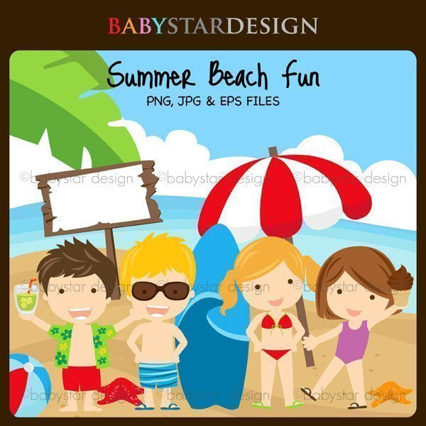 Summer Beach Fun  Babystar Design    Mygrafico
