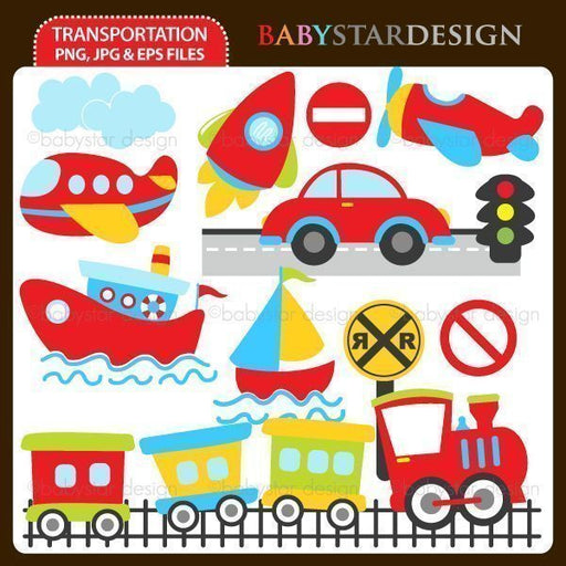 Transportation  Babystar Design    Mygrafico