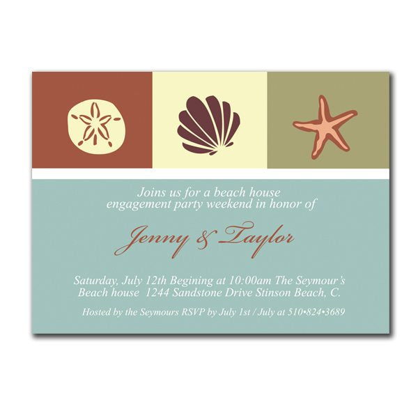 Beach Party Invites