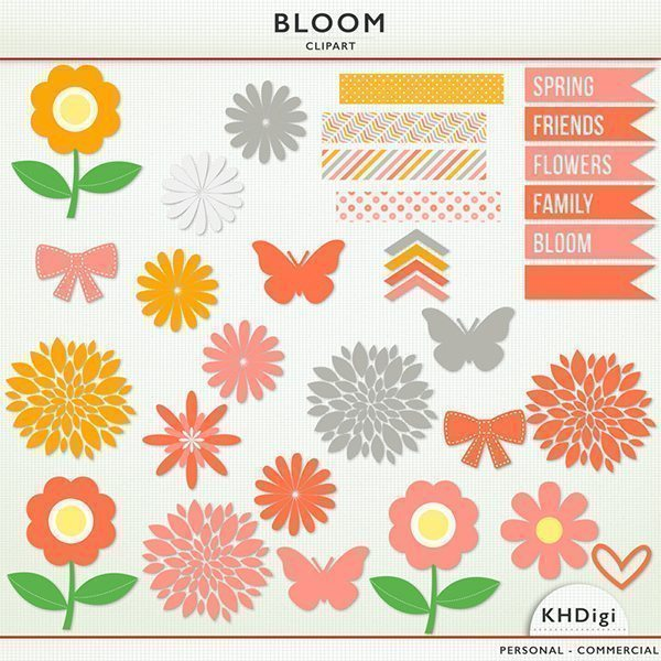 Bloom Elements  KH Digi    Mygrafico