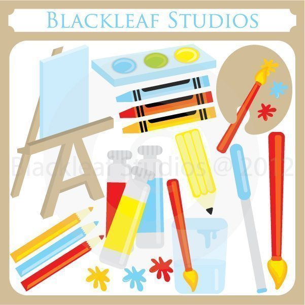 Art Party Supplies  Blackleaf Design    Mygrafico