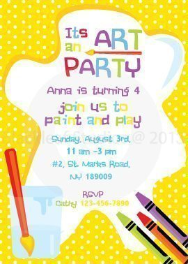 Art Party Invitations  Blackleaf Design    Mygrafico