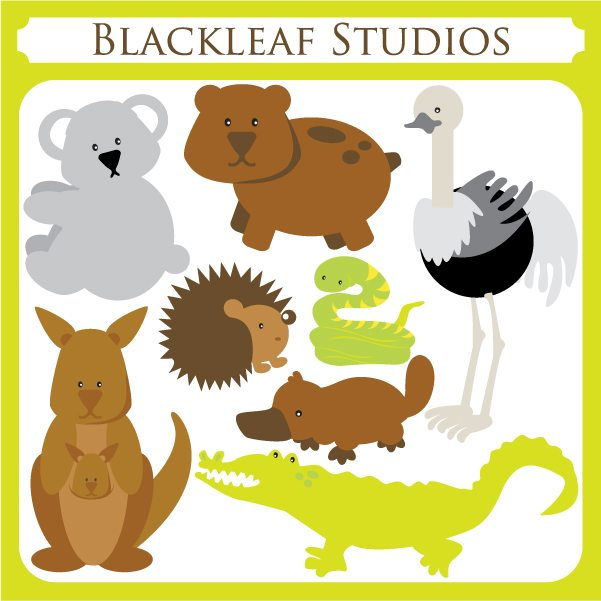 Australian Animals  Blackleaf Design    Mygrafico