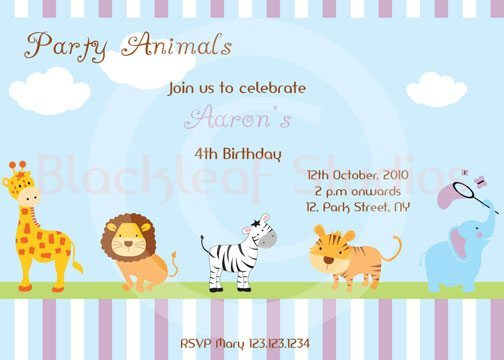 Baby Animal Invites  Blackleaf Design    Mygrafico