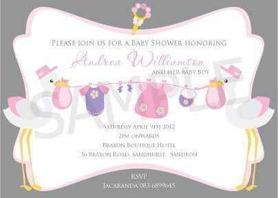 Baby Shower Invitations  Blackleaf Design    Mygrafico